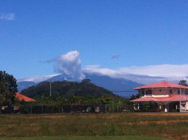 Voldan Baru erupts
