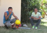 Alvin and the workman taking a break (though Alvin had brought a chair so he was mainly supervising :D )