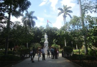 statue of Carlos Manuel de Céspedes, the man who set Cuba on the road to independence in 1868