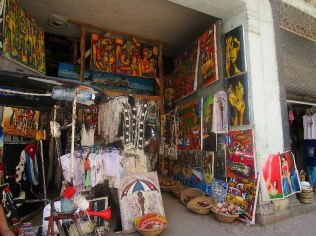 a colorful market