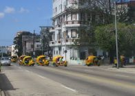 Then, this large group of little taxis came by