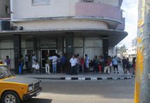 lines outside another bank. One day our hostess said she waited 2 hours in line at the bank