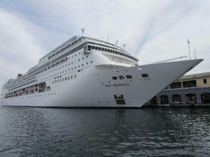 Italian cruise ship (though registered in Panama)