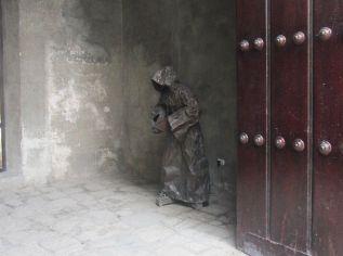 in a back corner of Basílica San Francisco de Asis