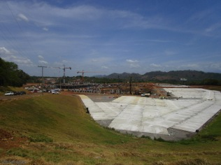 the growing concrete area for the mall