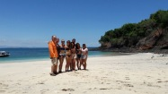 our group on the beach