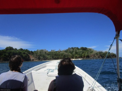 arriving at the island