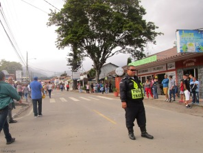 The center of town was closed, and I could hear a band approaching