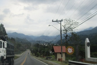 Coming in to Boquete - there were a lot of clouds covering the mountains but no rain