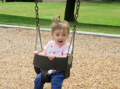 Swings are fun