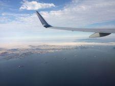 Heading home, San Fransicso below
