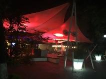 Outdoor restaurant and bar