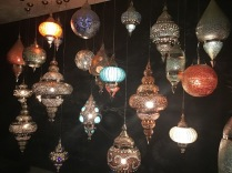 Beautiful Indian lamps in the lobby