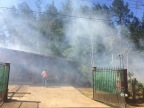 """The neighbors seemed fine with having the wooded area """"cleaned"""" even though they got a lot of smoke from it"""
