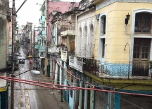 We arrive at the apartment in Havana in the rain