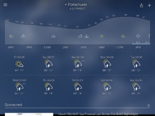 Yesterday's weather report