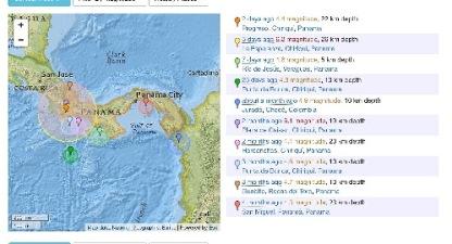 From earthquaketrack.com