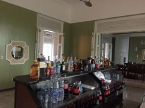 The bar is set up and ready to go